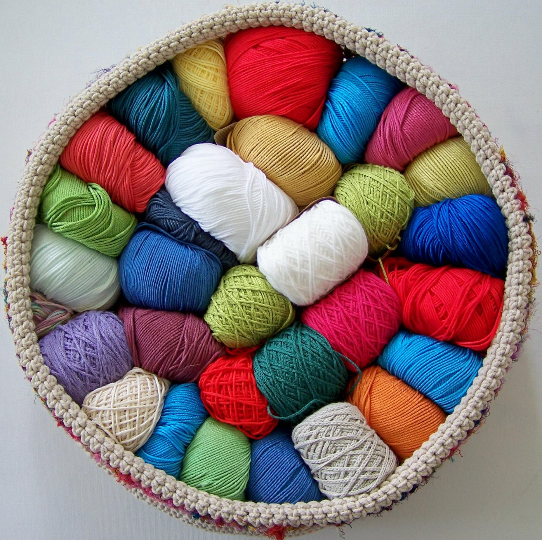 Crochet Patterns Loops And Thread Yarn : Yarn Basket ? Made With Loops