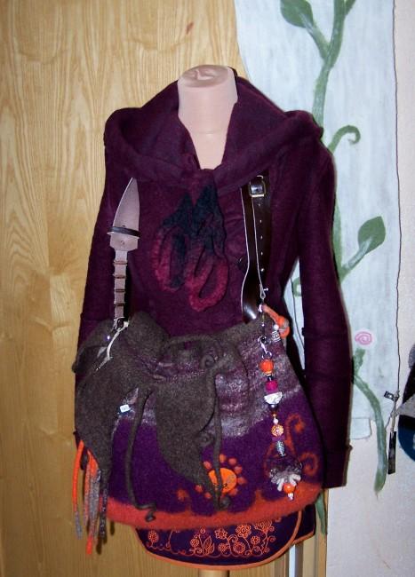 Filz Coat and bag