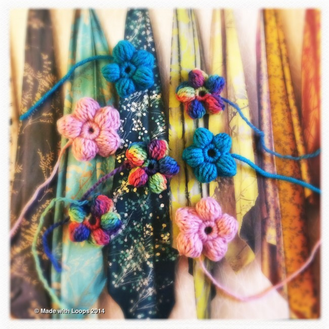 make a flower corsage – a free pattern