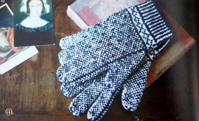 British Sanquhar gloves by Angharad Thomas
