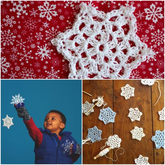 #crochet #snowflakes #madewithloops