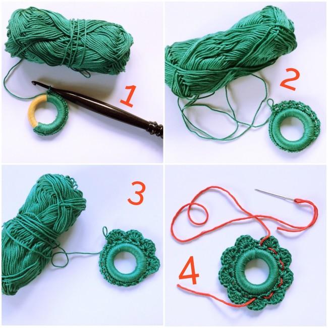 #crochet wreath, #madewithloops