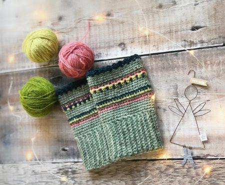 Crochet Nordic Wrist-Warmers