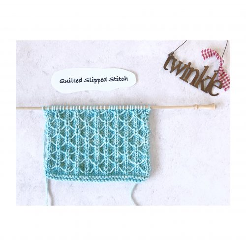 Stitches – Week 9 – Quilted Slipped Stitch