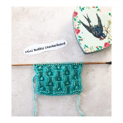 Stitches – Week 12 – Mini Bobble Checkerboard